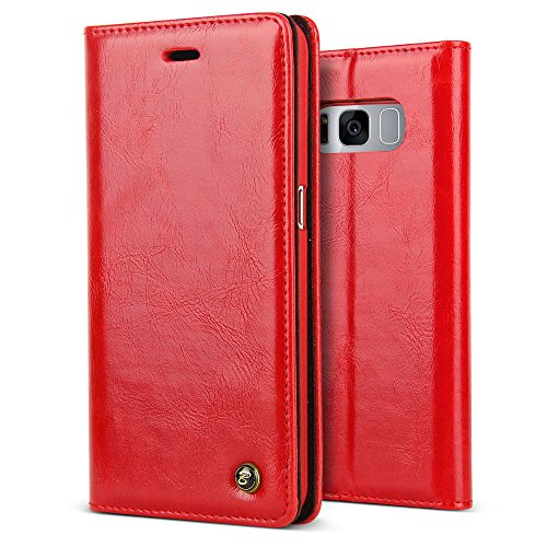3. BELK Vintage Protective Glossy PU Leather Walllet Case Embedded Magnetic Closure PC Bumper Cover Shell