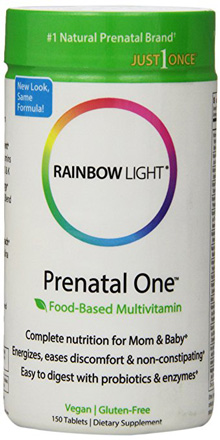 Rainbow Light Prenatal One Multivitamin, 150-Count Bottle