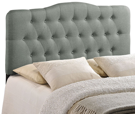 Modway Annabel Upholstered Tufted Button Fabric Headboard Queen Size