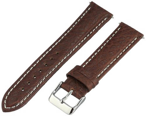 2. Voguestrap Genuine-Leather Watch Band