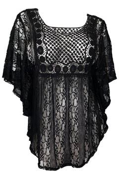2. eVogues Sheer Crochet Lace