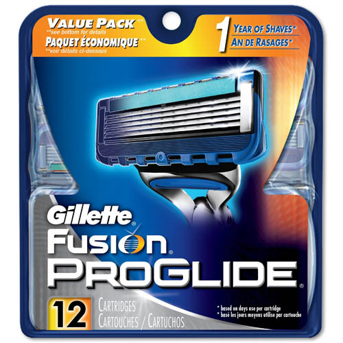 10. Gillette Fusion ProGlide Manual Men's Razor Blade Refills, 12 Count