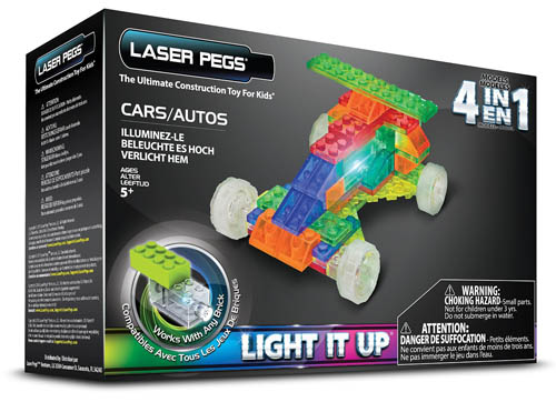 4. Laser Pegs Cars Building Set
