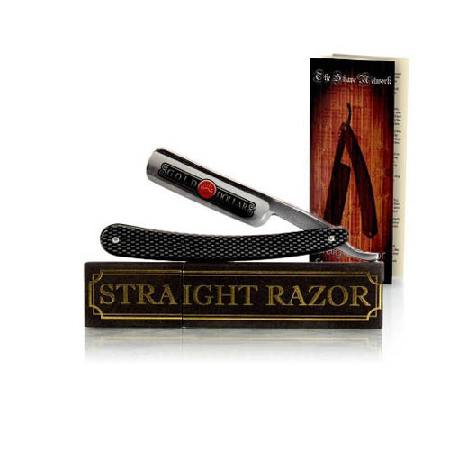 7.Shave Ready Shaving Straight Razor 6/8'' GD(Gold Dollar) 208 w/ The Shave Network Straight Razor Slip Case –Hand Honed By The Blades Grim Crew With Care & How To Straight Shave Guide!
