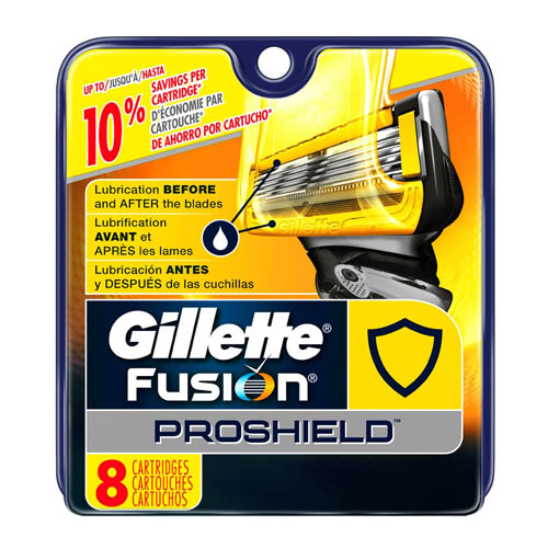 1. Gillette Fusion Proshield Men's Razor Blade Refills, 8 Count
