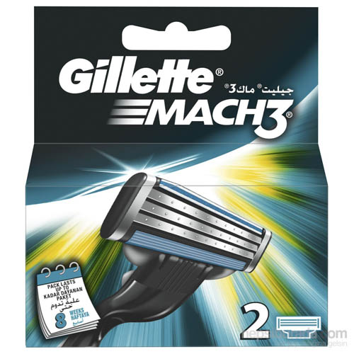 7. Gillette Mach 3 Razor Refill Cartridges 10-Count (Packaging may vary)