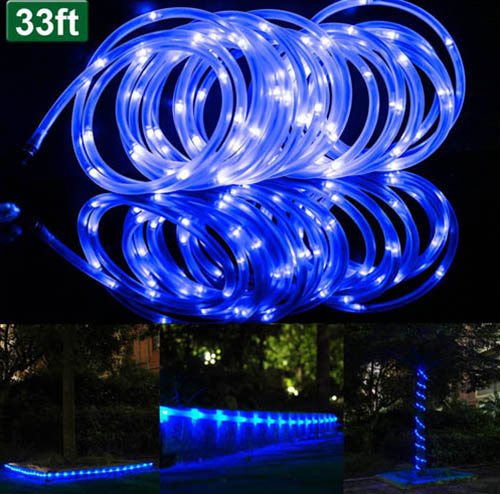 10. 100 LEDs Solar Rope Lights