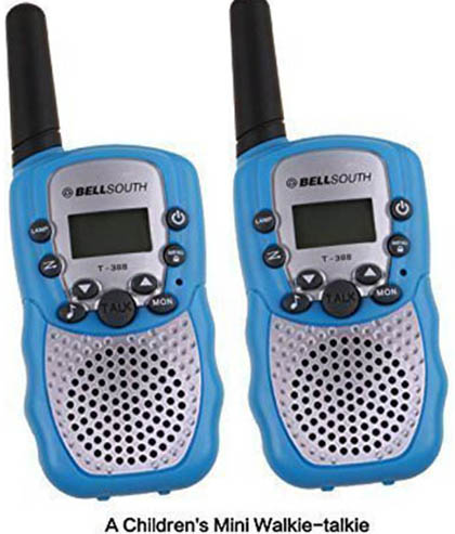 10. 2Pcs Mini Walkie Talkie