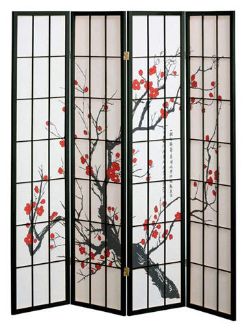 6. 4 panel Cherry Blossom Design