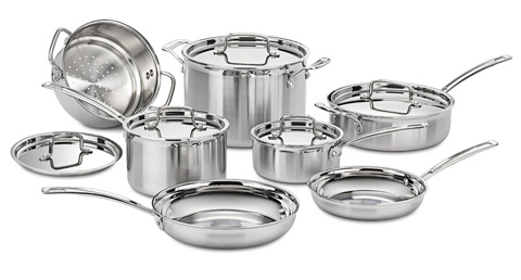 7. MULTICLAD PRO STAINLESS STEEL 12 PIECE CUISINART MCP 12N