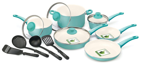 1. GREENLIFE 14 PIECE NON STICK WITH SOFT GRIP