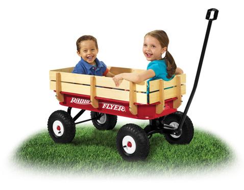 7. Radio Flyer Full Size All-Terrain Steel And Wood Wagon