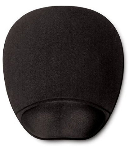 3. HandStands Memory Foam Mouse Pad Mat With Wrist Rest, Black