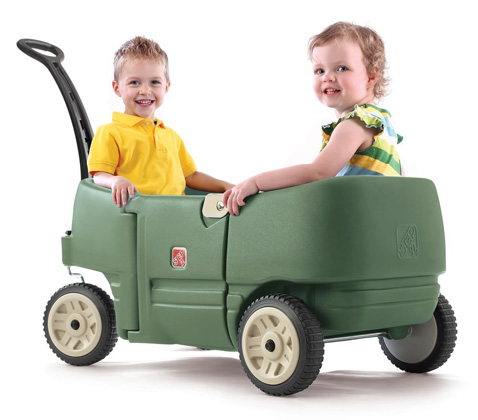 12. Step2 Step 2 Wagon For Two Plus Willow Green