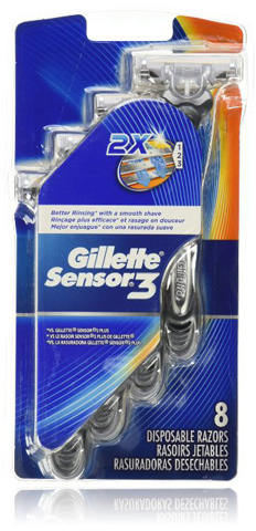 8. Gillette Sensor3 Smooth Shave
