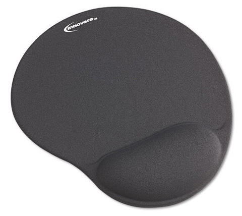 4. Innovera Mouse Pad With Gel Wrist Pad, Gray