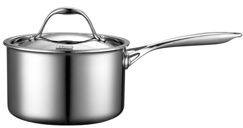 7. Stainless-Steel 3-Quart Covered Sauce Pan