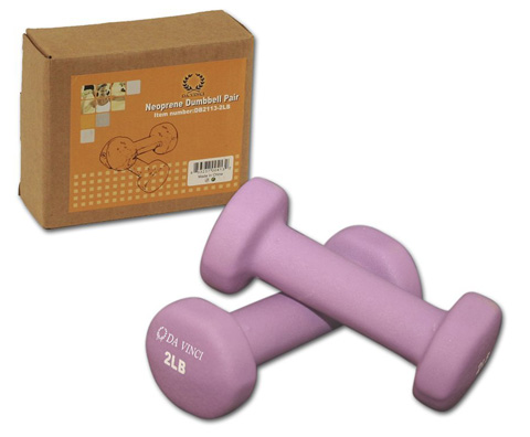 1. Da Vinci Pair of Neoprene Dumbbells