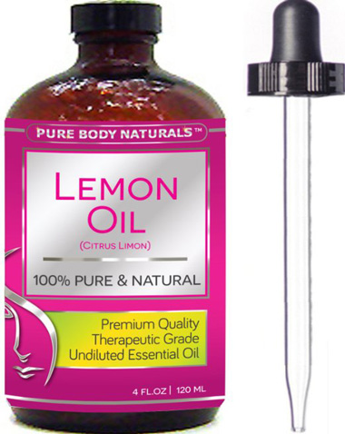 4. Pure Body Naturals Therapeutic Grade Undiluted Essential Lemon Oil