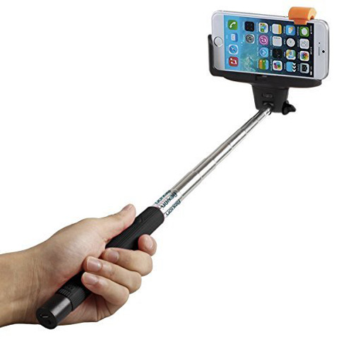 6. Selfie Stick, Flexion™ QuickSnap Pro 3-In-1 Self-portrait Monopod Extendable Wireless Bluetooth Selfie Stick with built-in Bluetooth Remote Shutter