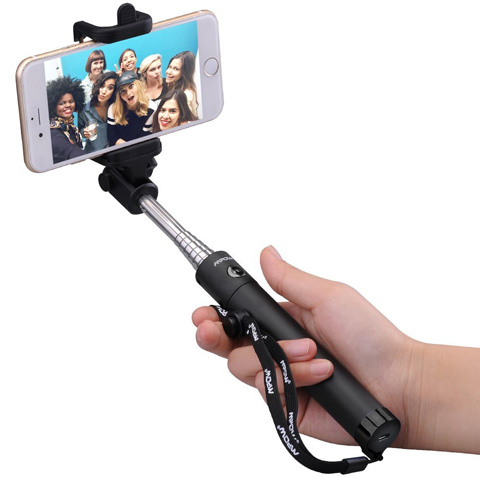 13. Mpow iSnap X One-piece U-Shape Self-portrait Extendable Selfie Stick with built-in Bluetooth Remote Shutter