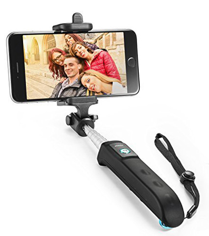 8. Selfie Stick, Anker Extendable Bluetooth Monopod with Built-in Remote Shutter