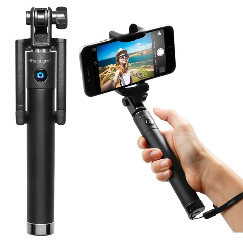 11. Selfie Stick, Spigen® [New Generation] Bluetooth Selfie Stick with Remote Shutter