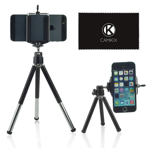 4. Camkix Universal Adjustable Tripod + Bluetooth Remote