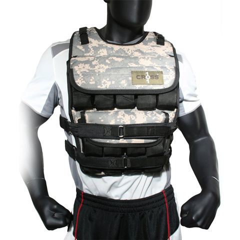 7. CROSS101 Adjustable Camouflage Weighted Vest