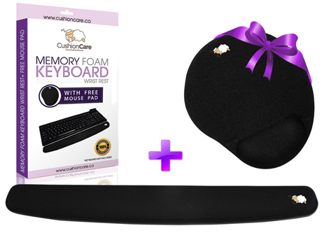 CushionCare Keyboard Wrist Rest Pad - Mouse Pad Included - Ergonomic Support - Premium Quality Foam