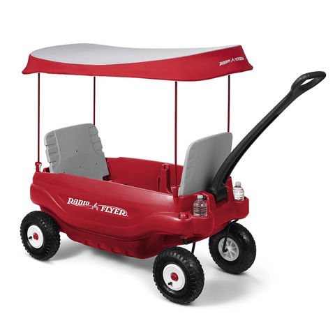 13. Radio Flyer Deluxe All-Terrain Family Wagon Ride On, Red