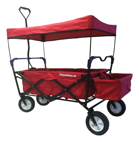 5. EasyGoWagon Folding Collapsible Utility Wagon, Red