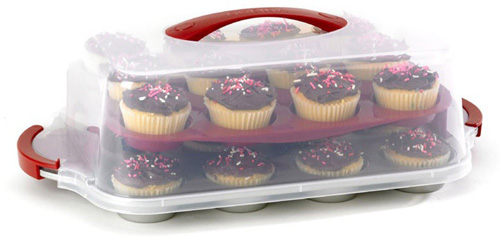1. Good Cook 24 Count Cupcake Pan and Carrying Case