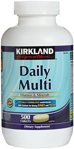 7. Kirkland Signature Daily Supplement Multi Vitamins & Minerals Tablets