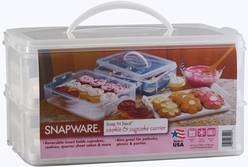 3. Snapware 6032 Large 2 Layer-Cupcake Keeper