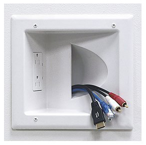 3. Low Voltage Media with Duplex Receptacle