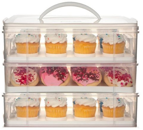 6. Snapware 3 Layer Cupcake Cookie Cake Dessert Carrier