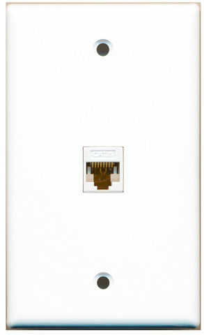 8. Female Wall Plate White