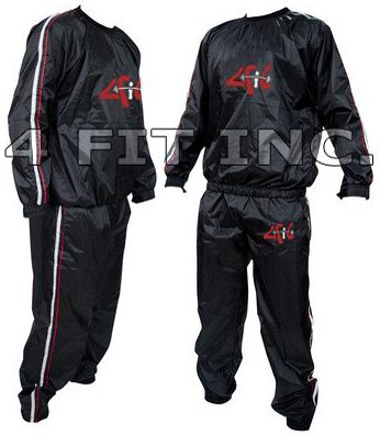 5. 4Fit Heavy Duty Sweat Suit Sauna Exercise Gym Suit