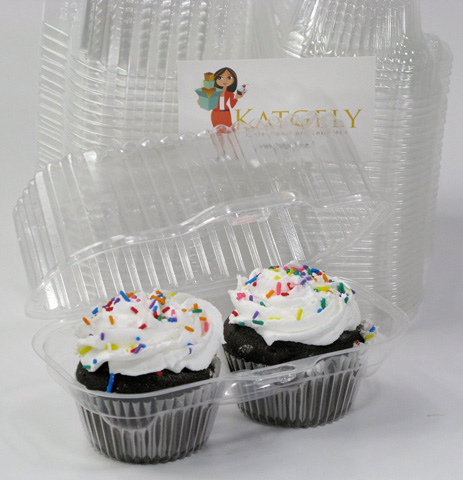 10. Katgely Cupcake Boxes Cupcake Containers