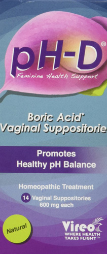 10. pH-D Feminine Health Support, Boric Acid Vaginal Suppositories