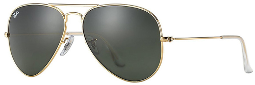 9. Ray-Ban Aviator RB3025 Large Metal Aviator Sunglasses