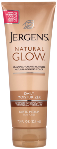 7. Jergens Glow Revitalizing Body Lotion, Fair to Medium