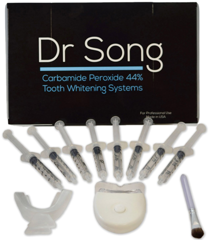 5. Dr Song Home Teeth Whitening Kit, 8 XL Syringe with Light, Tray and Gel Applicator