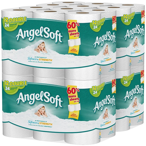 14. Angel Soft Bath Tissue