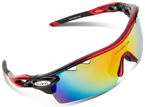 12. RIVBOS 801 Polarized Sports Sunglasses for Women