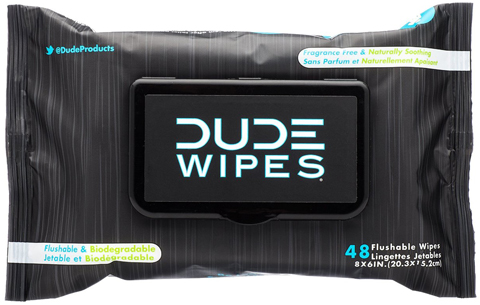 4. Dude Wipes Flushable Wipes