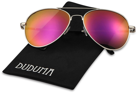 4. Duduma Premium Full Mirrored Aviator Sunglasses