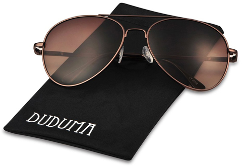 15. Duduma Premium Full Mirrored Aviator Sunglasses