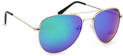 3. Tantino Classic Aviator Sunglasses Flash Lens